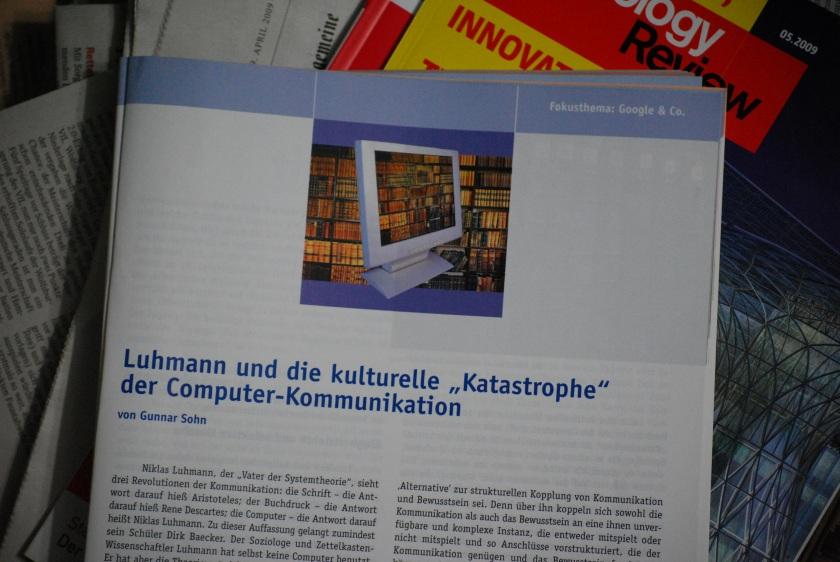 Das Computer-Vermächtnis des Soziologen Niklas Luhmann