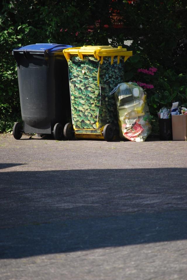 Getarnte Tonnen und Müllschwund