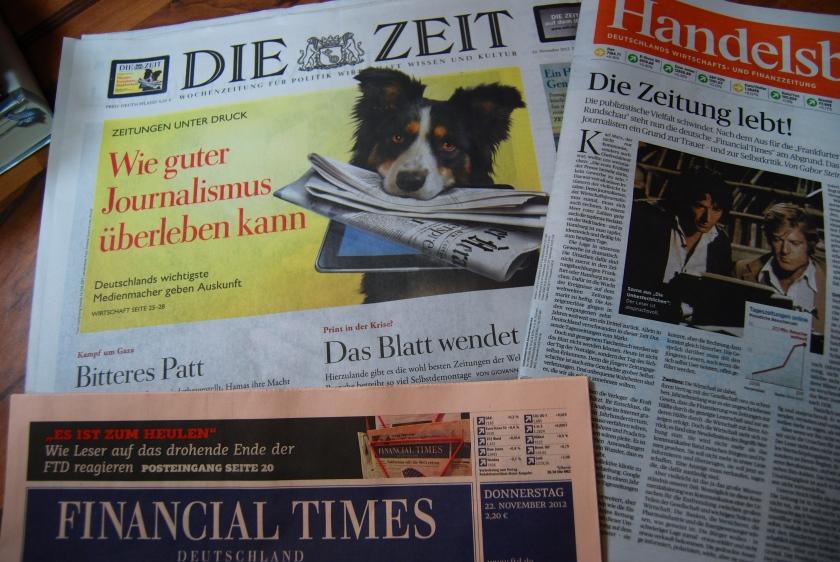 Die Nabelschau der Printmedien