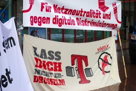 Drosselkom-Demo in Köln