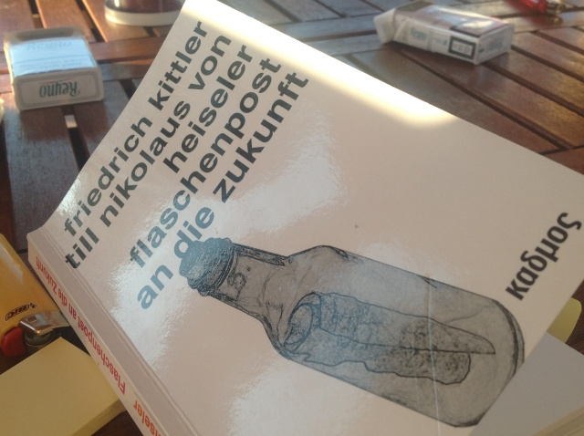 Kittler und die Flaschenpost