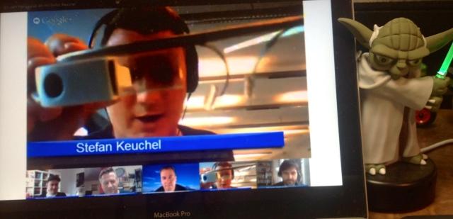 Zukunftsmusik: Hangouts über Google Glass starten