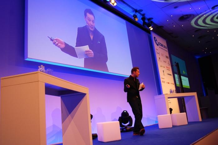 Spiegel-Kolumnist Tom König auf der CCW in Berlin