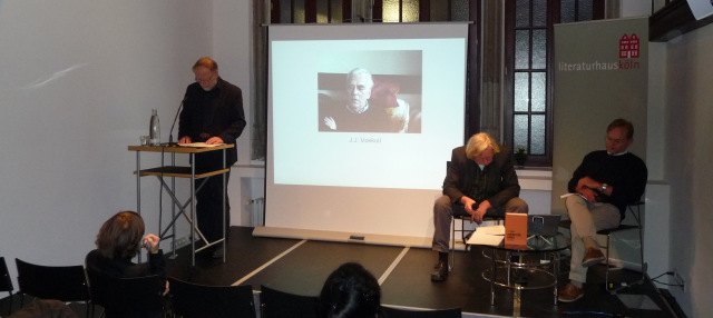 Die Akteure des Abends v.l.n.r.: Bernt Hahn, J.J. Voskuil, Ulrich Faure, Gerd Busse © Wolfgang Schiffer