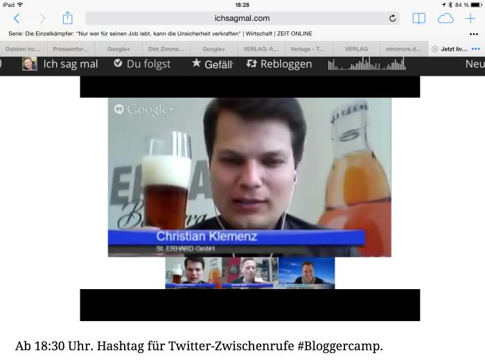 Livestreaming mit Alkohol