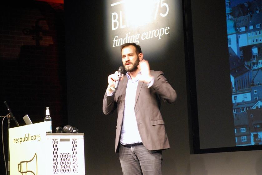 Marco Petracca auf der re:publica 2015
