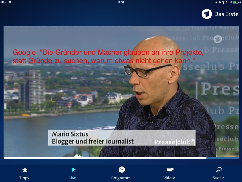 Presseclub leider ohne blauen Dunst wie zu Zeiten von Werner Höfer