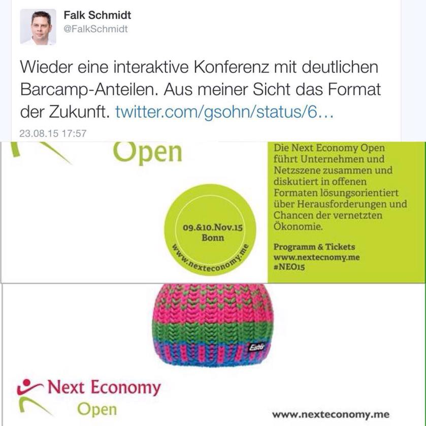 Matchen - Moderieren - Managen zur Next Economy Open in Bonn