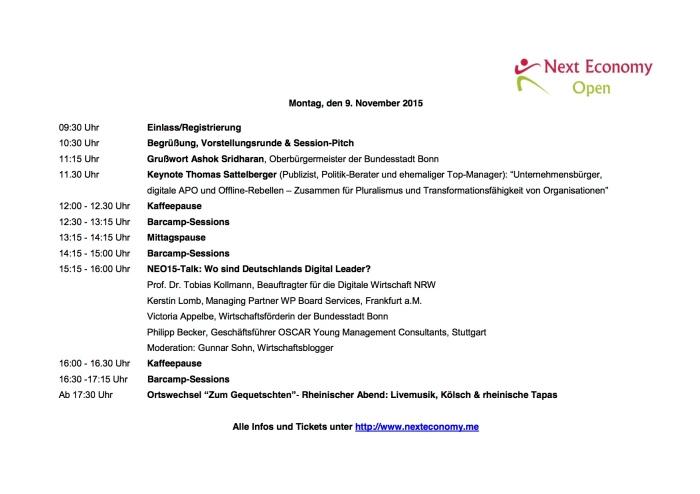 NEO15_Programm erster Tag
