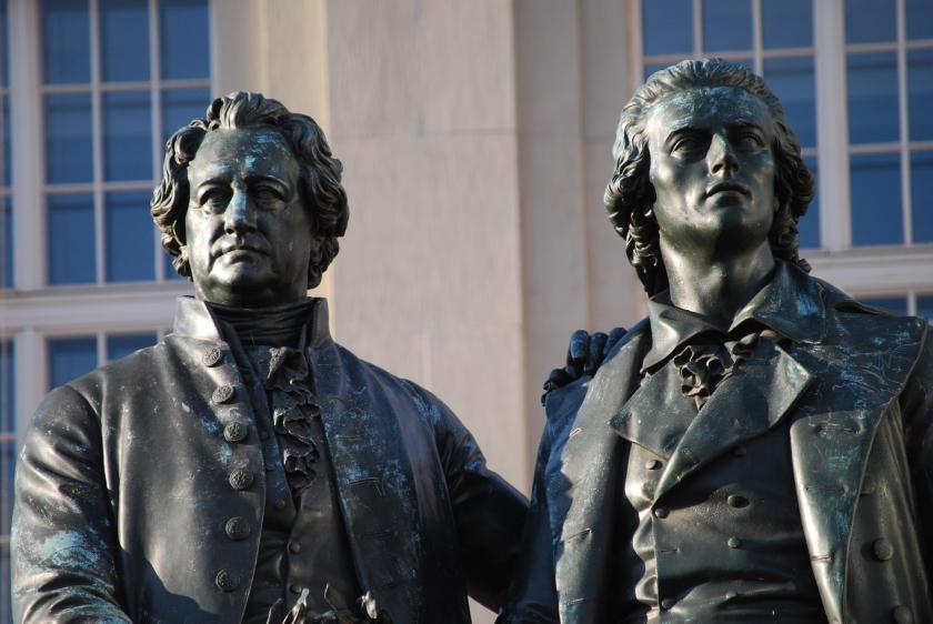 Goethe und Dichter-Freund Schiller