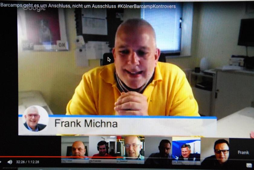Frank Michna in der Barcamp-Diskussion in Bestform :-)